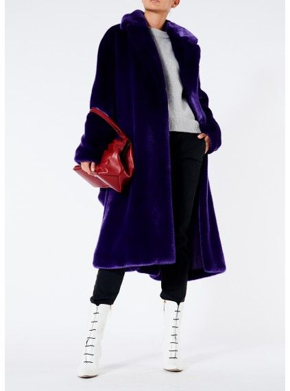 369931c8e5f8 Luxe Faux Fur Oversized Coat
