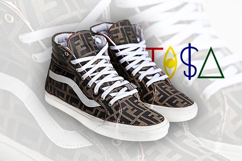 "Vans x TI$A ""Vintage Fendi"" collection http://bit.ly/18yY7CX"