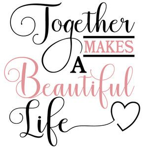 Download 174295: together makes a beautiful life   Silhouette ...