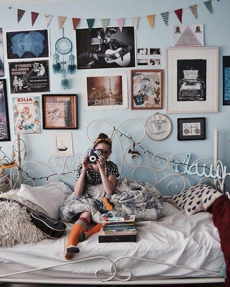 82 Lovely Cute Diy Dorm Room Decoration Ideas Bedroom Vintage Vintage Room Room Inspiration