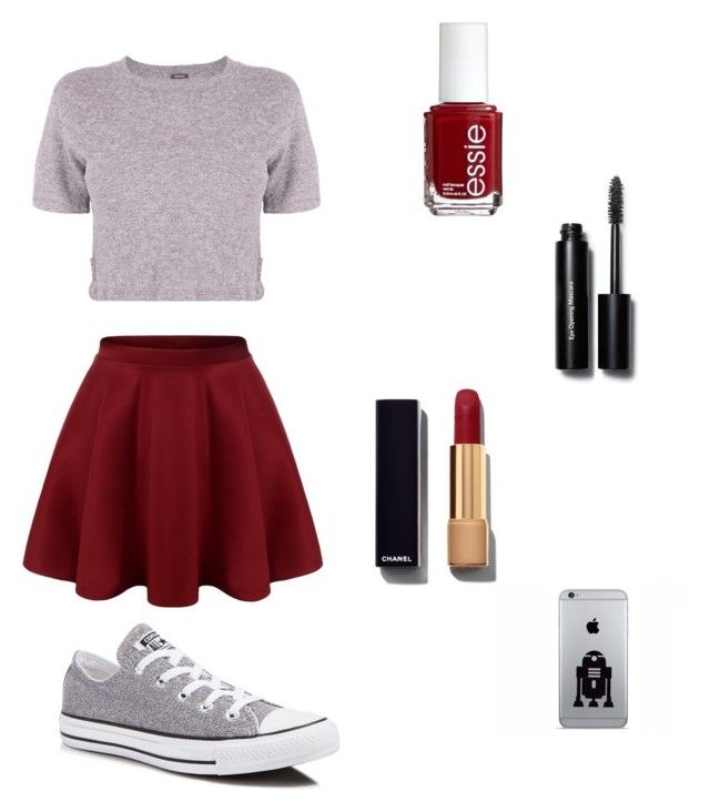 """Untitled #6"" by jelisavcic-jela ❤ liked on Polyvore featuring Monrow, Converse, Chanel, Bobbi Brown Cosmetics and Essie"