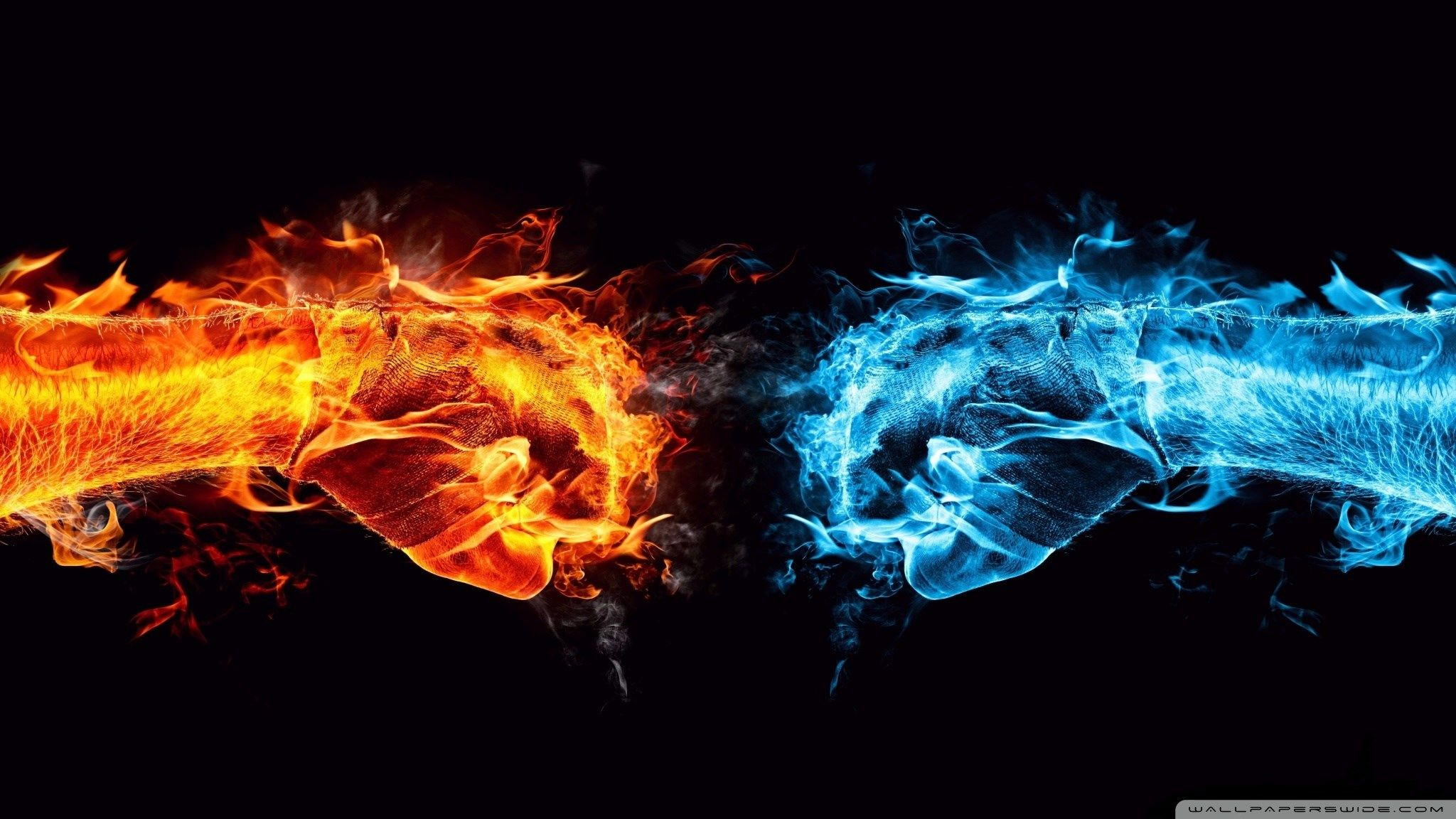 fire and ice wallpaper for desktop background 2048x1152 359 kB