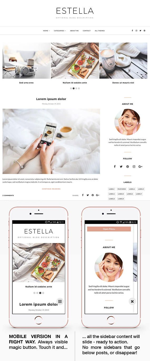 Estella is an elegant premade blog theme that\'s easy to install and ...