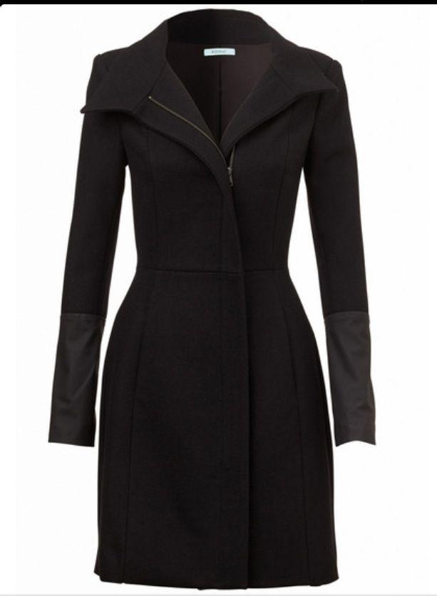 Kookai Ava Wool Coat with Leather Cuffs | Coat, Fashion
