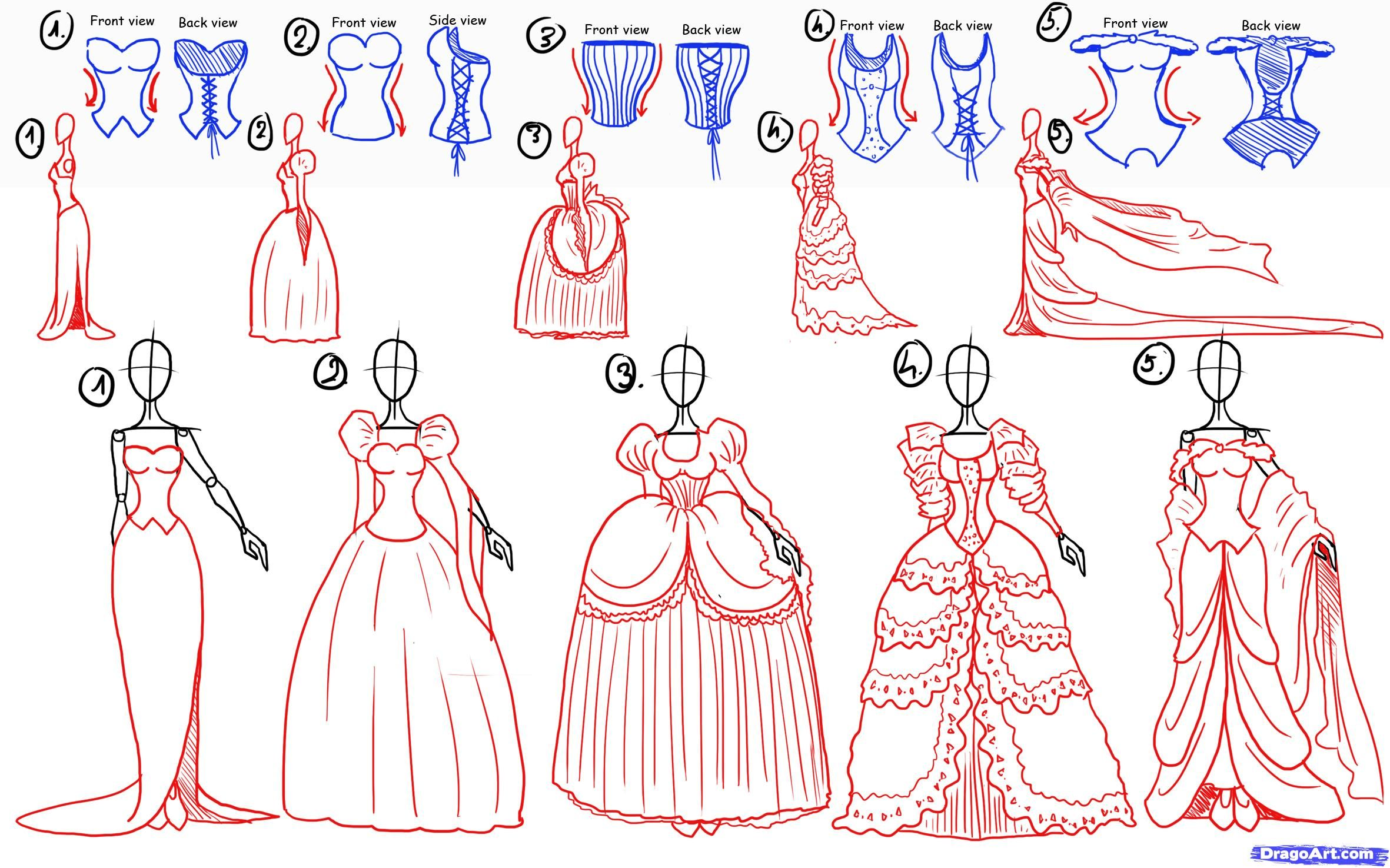 How To Draw Princesses Step 5 1 000000057325 5 Jpg 2362 How To Draw A Princess Dress Step By Step Printable