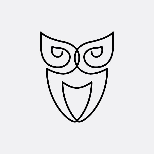 Simple Minimalist Owl Tattoo: Рисунок, Сова, Мозаика