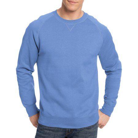 Hanes Big Men's Nano Premium Soft Lightweight Fleece Sweatshirt, Size: 2XL, Blue