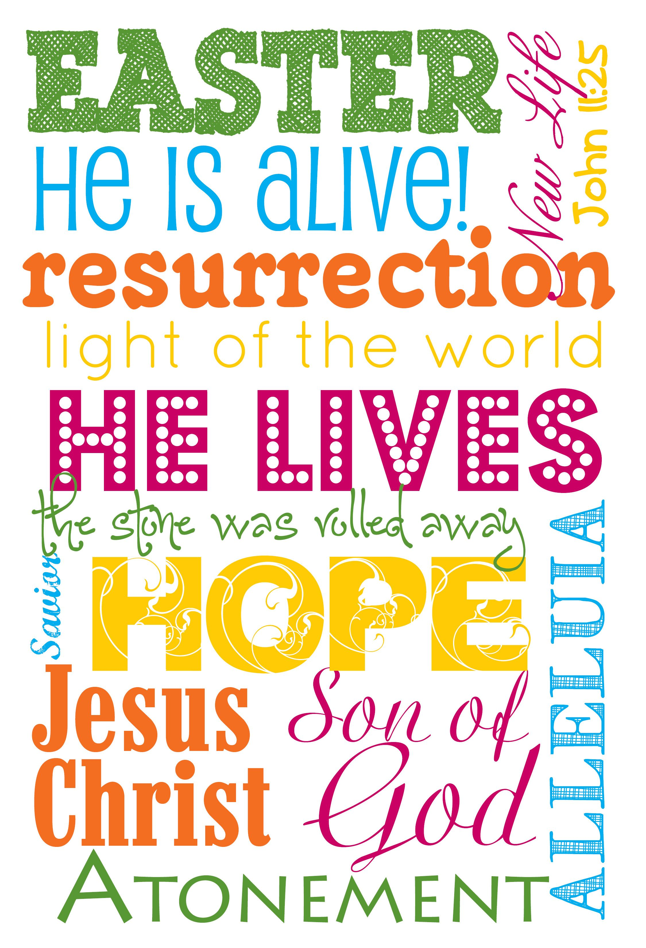 Easter Subway Art (With images) | Easter poster, Easter ...