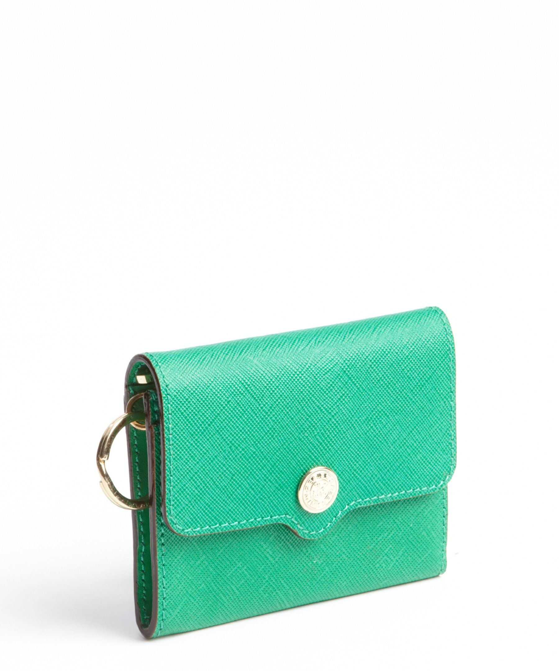Rebecca Minkoff green grained leather 'Molly' metro holder   BLUEFLY up to 70% off designer brands $53