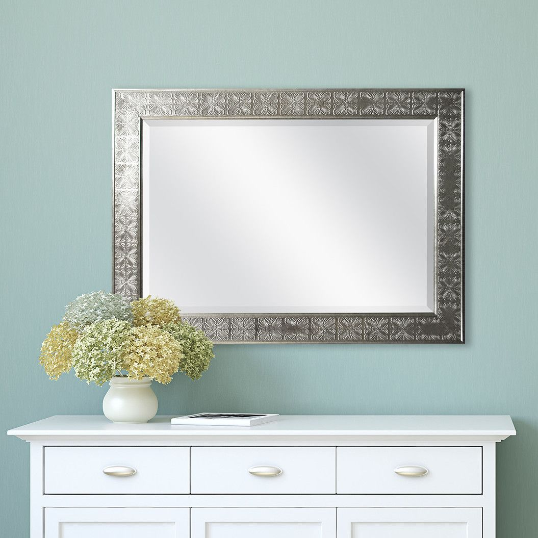 Mcs Industries Silver Medallion Beveled Mirror Apartment