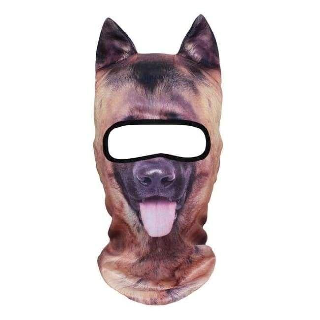 3d Stand Ears German Shepherd Balaclava Full Face Mask Baby