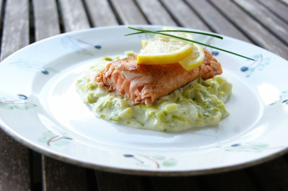 Creamed Leeks (to serve with Salmon)