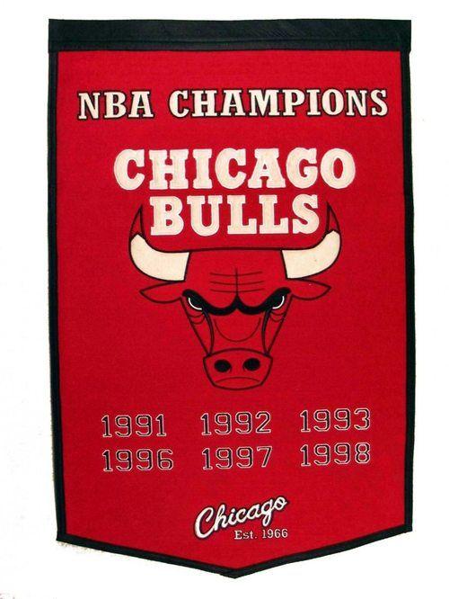 9786bd0cc Chicago Bulls Banner 24x36 Wool Dynasty Michael Jordan, Champion, Banner,  Nba, Wool
