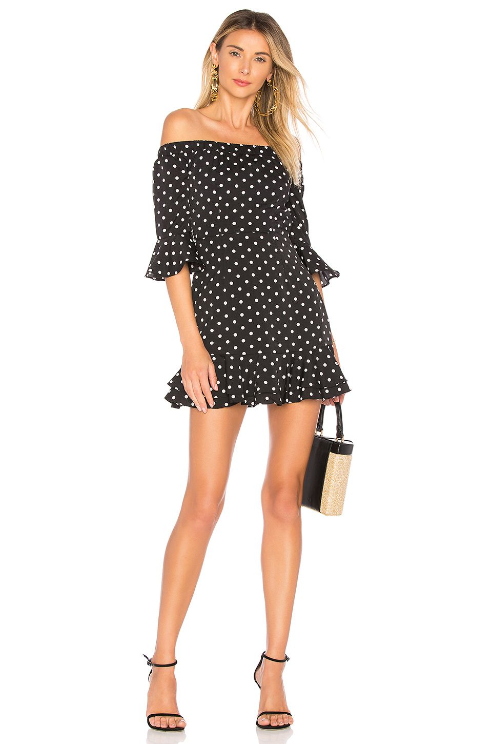 3baf9eb77725 BY THE WAY. BY THE WAY. FAYE RUFFLE OFF SHOULDER DRESS.