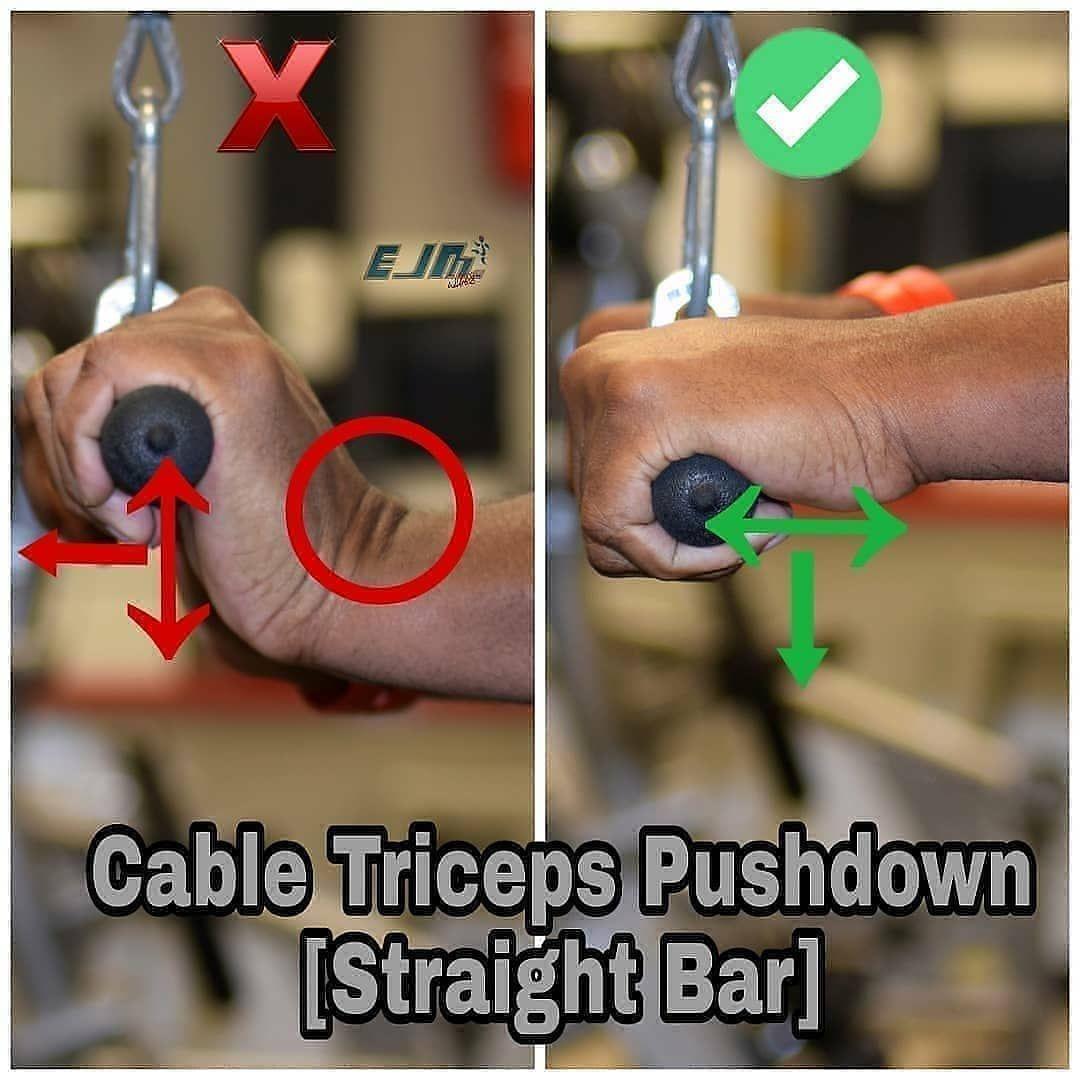 Cable Tricep Pushdown...   Prise de masse musculaire ...