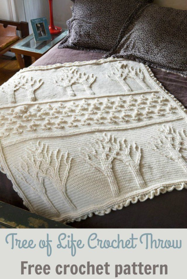 Tree of Life Afghan Throw Crochet Pattern | Crochet patterns | Pinterest