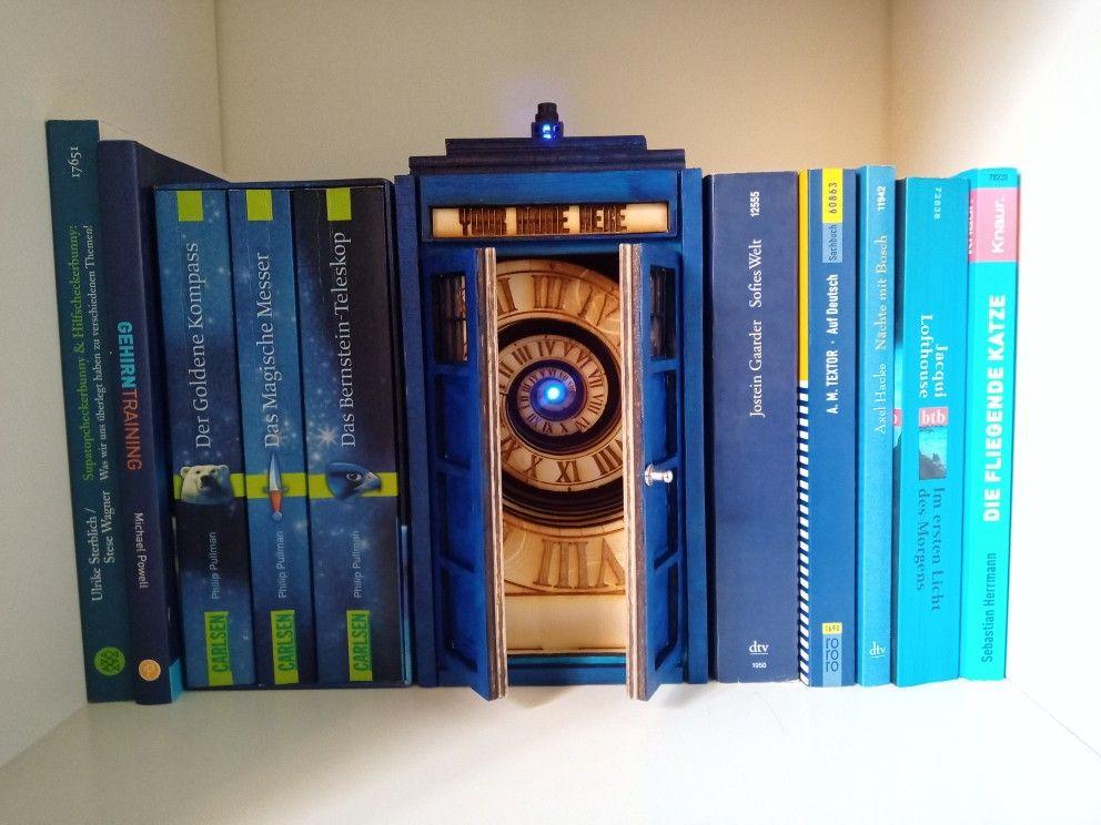 Book Nook Dr Who Tardis Book Nooks Bookshelf Art Tardis