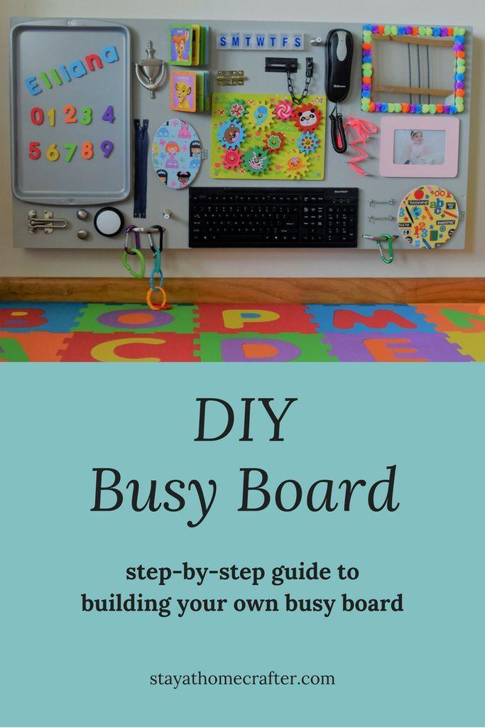 DIY Busy Board | Diy busy board, Toddler activity board ...
