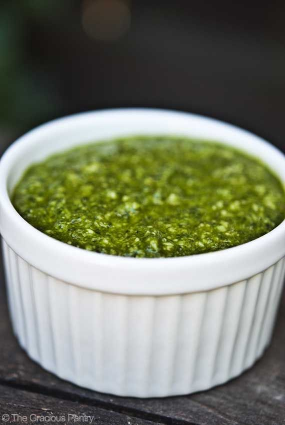 how to make pesto sauce with fresh basil