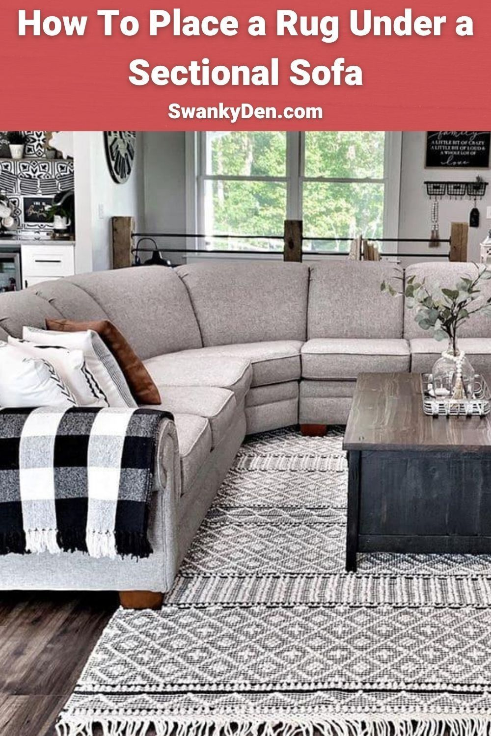 How To Place A Rug Under A Sectional Sofa In 2020 Living Room Rug Placement Area Rug Placement Living Room Sectional Sofa #rug #placement #living #room #sectional