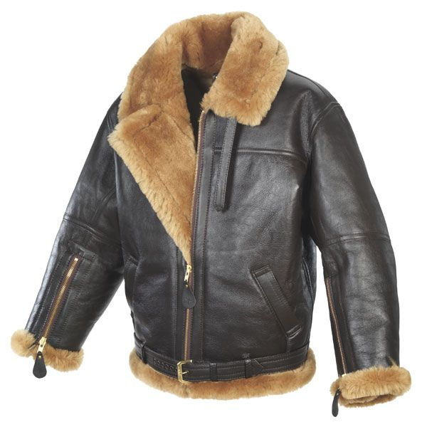 B-3 Hooded Sheepskin Flight Jacket from RexLeather.com B-3 Hooded