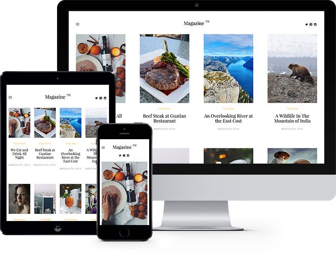 Magazine: Free HTML5 Bootstrap Template - Free Responsive HTML5 ...