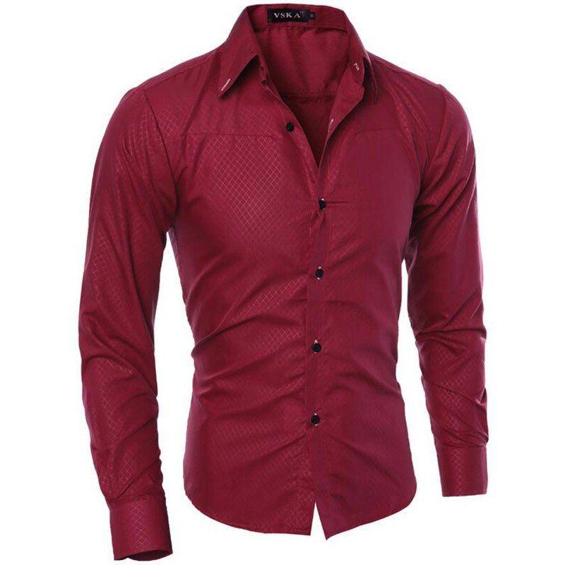Vska Mens Buttoned Clubwear Flower Print Dress Stand Collar Shirts