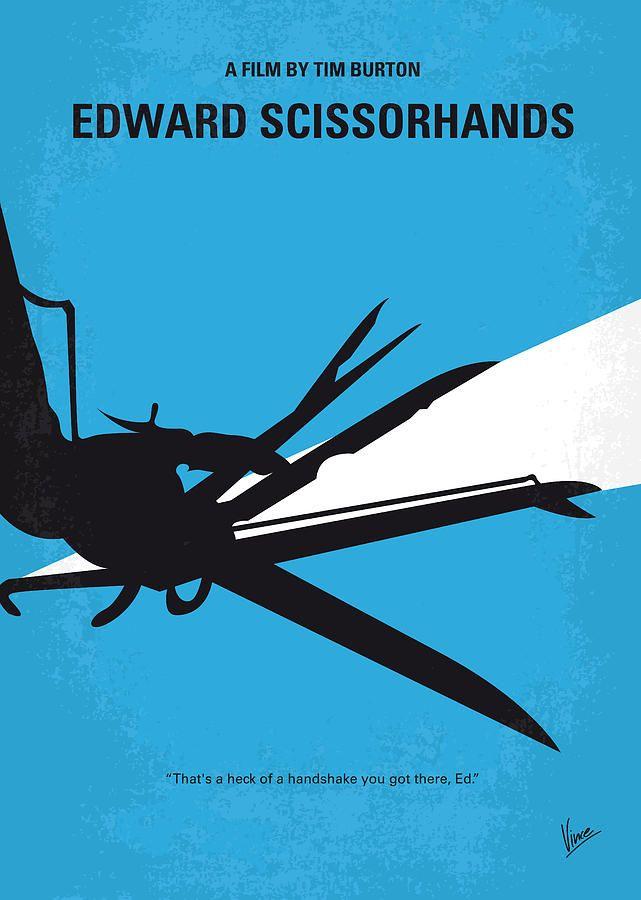 No260 My Scissorhands Minimal Movie Poster Minimal Movie Posters