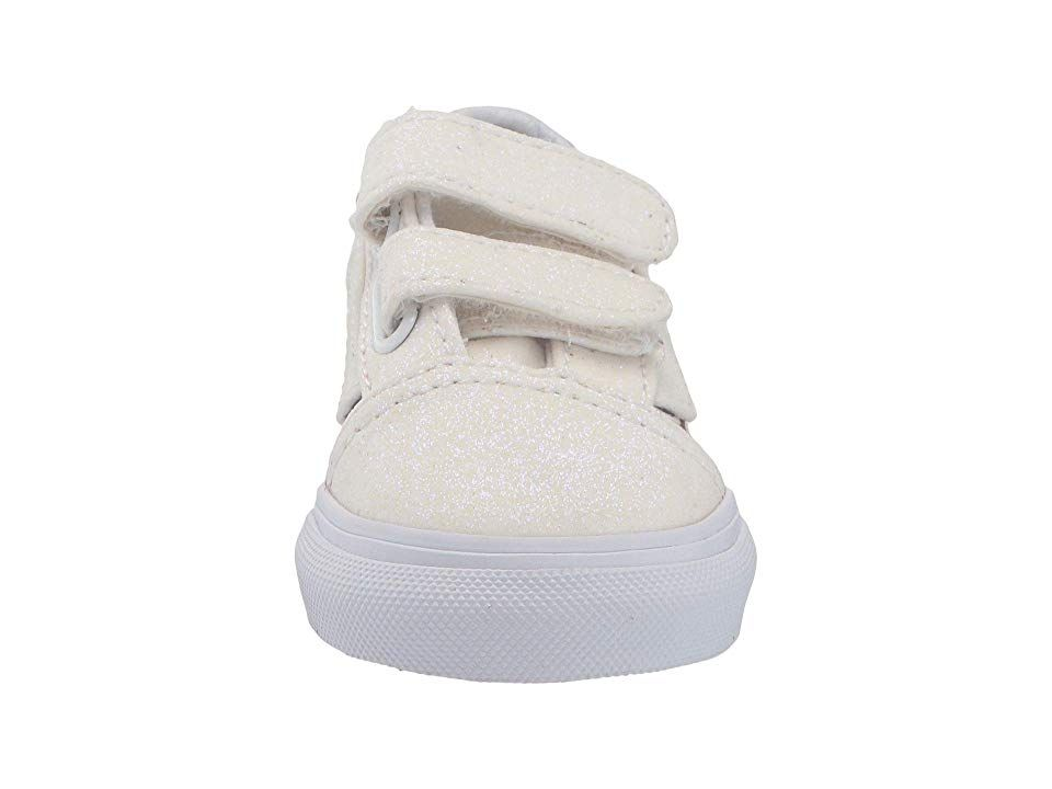 968fd7c57148d9 Vans Kids Old Skool V (Infant Toddler) Girls Shoes (Sparkle Flame)  Rainbow True White
