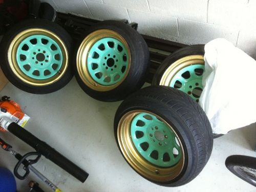 Fs Ft 15x10 15 Diamond Racing Wheels Stretched Tires Racing Wheel Jdm Wheels Custom Wheels