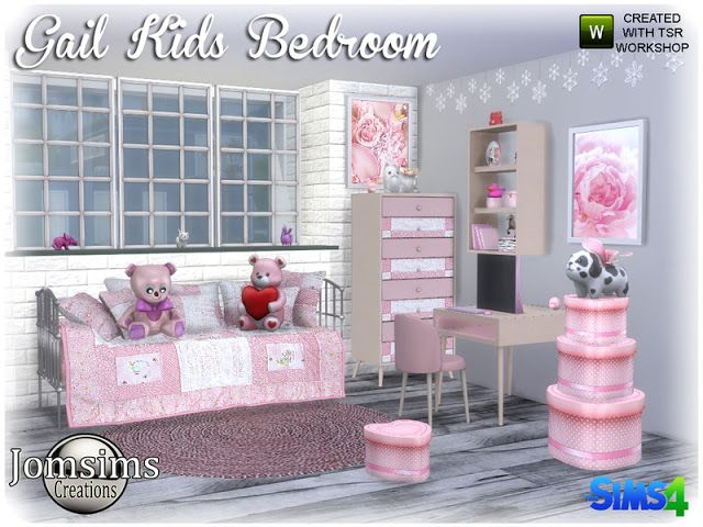 Gail Kids bedroom by Jomsims Kinderschlafzimmer, Sims