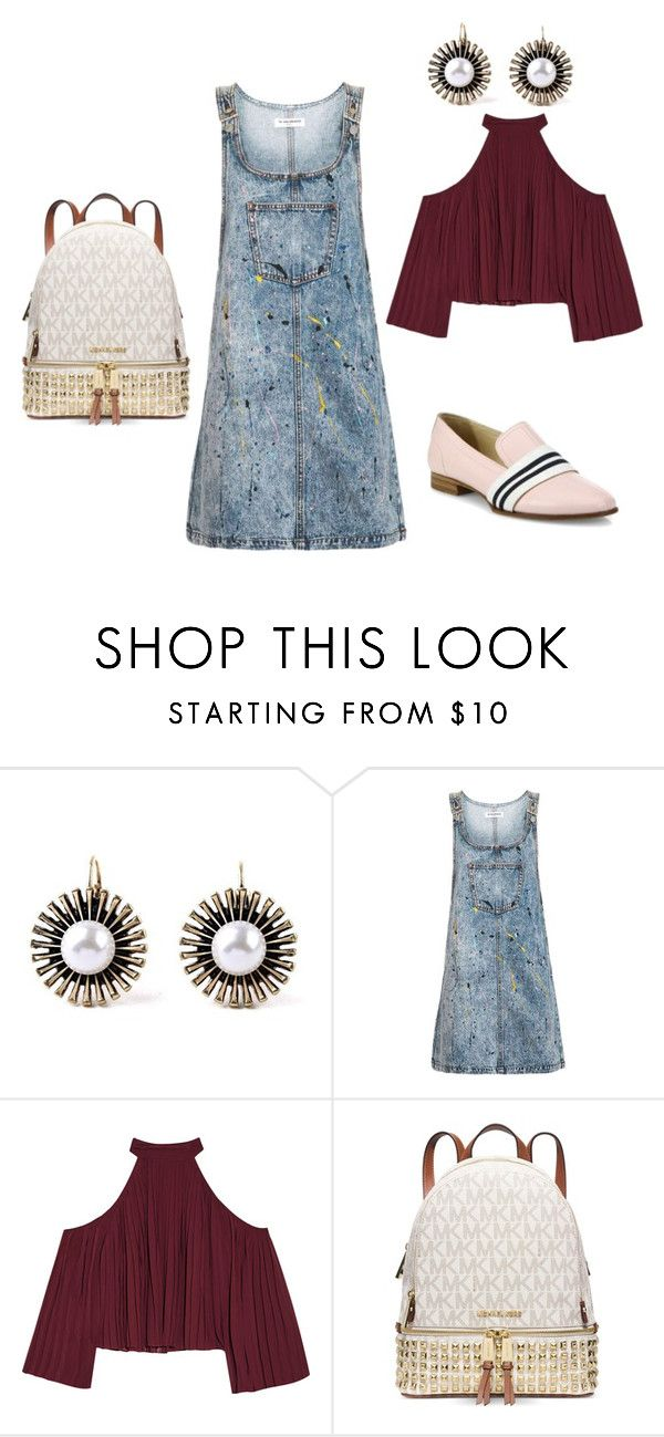 """J"" by loreninha1 ❤ liked on Polyvore featuring Topshop, W118 by Walter Baker, Michael Kors and rag & bone"