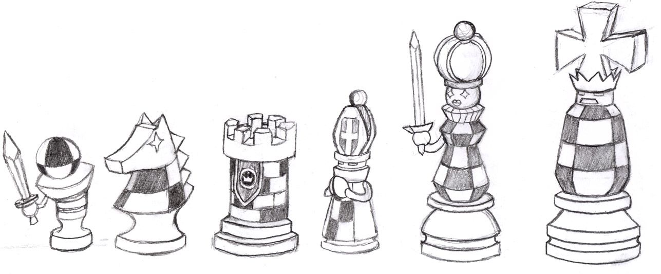 Chess pieces exe by raijinkarate sketches