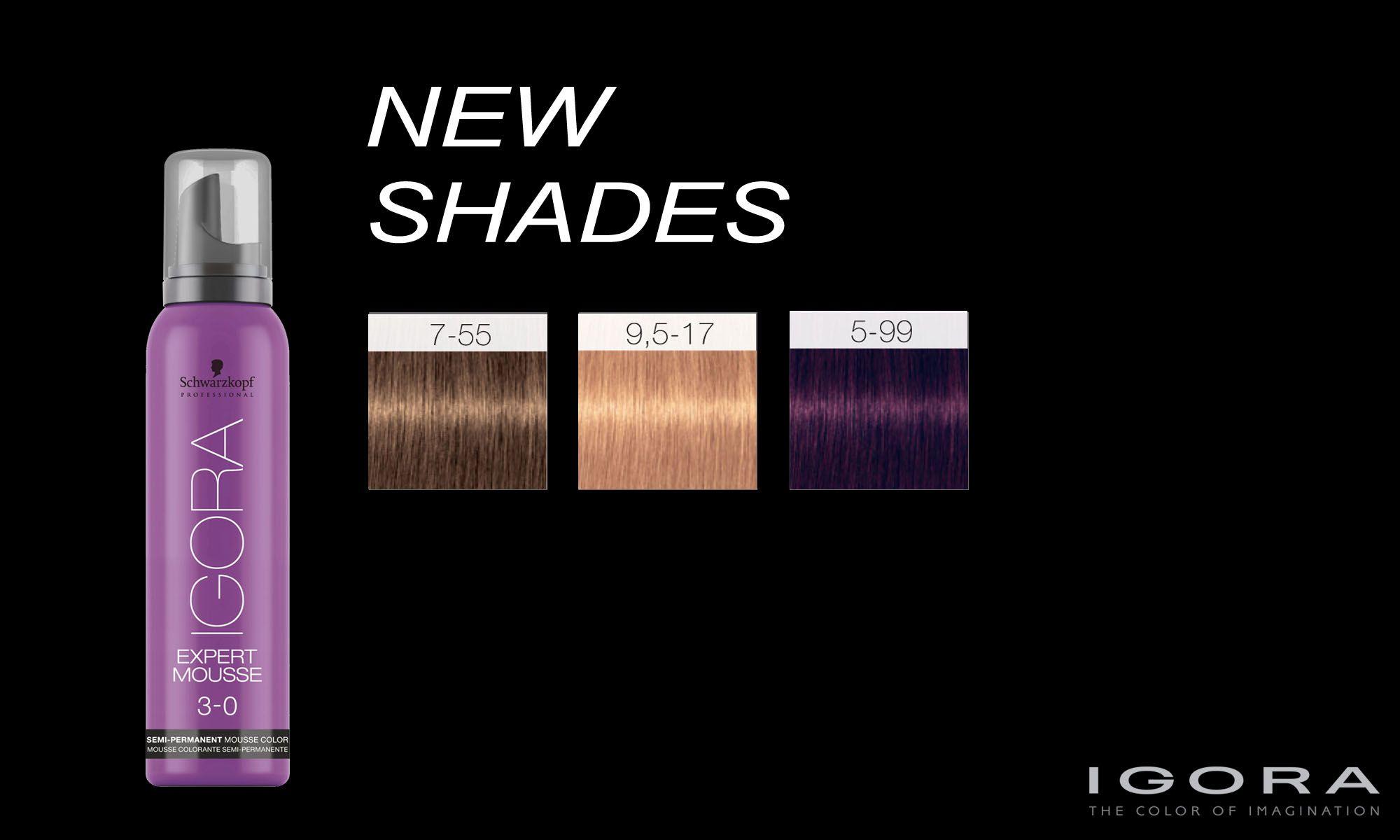igora expert mousse color chart: Schwarzkopf professional igora expert mousse new shades