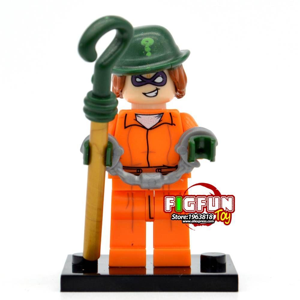New Single DC Super Heroes Building Bricks Villains white