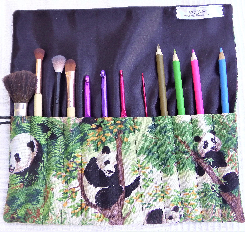 Makeup Brush Roll Makeup Brush Case Crochet Hook Roll Needle