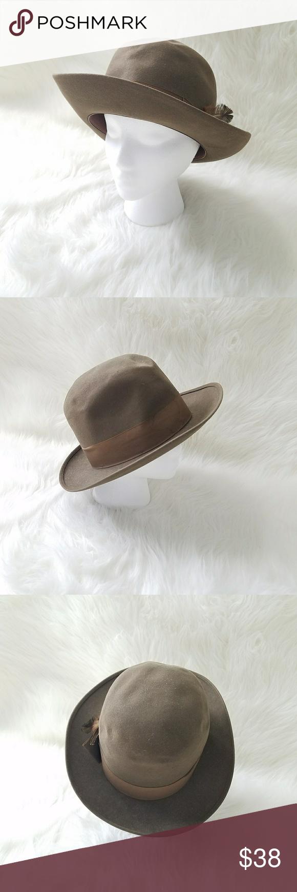 Dobbs Fifth avenue top hat VINTAGE Vintage Top Hat From Dobbs Fifth avenue  Dark green brown 5dc614d6c2b