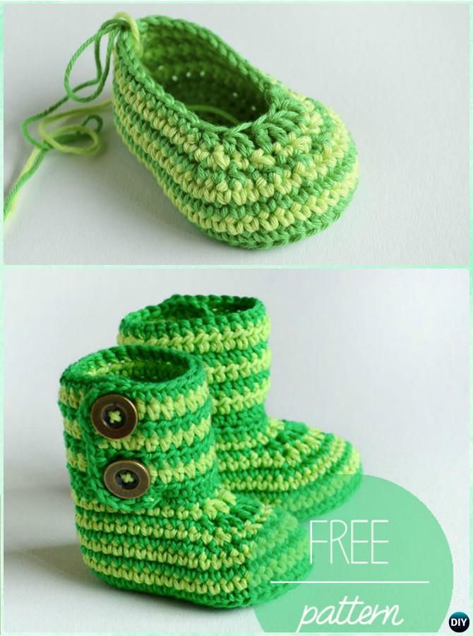 Magnífico Los Patrones De Crochet Libre Para Los Botines Para ...