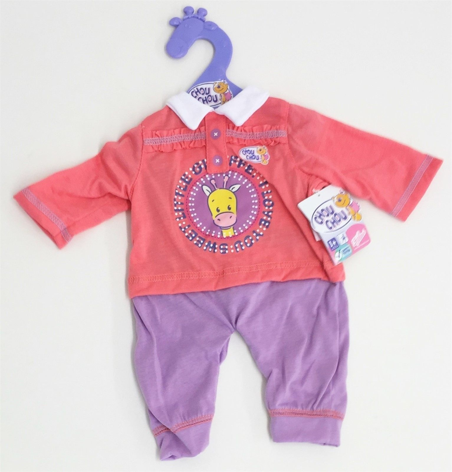 Zapf Creation Baby Chou Chou Hose Top Kleidung Fur 42cm 17 Puppe Stil D In Spielzeug Puppen Zubehor Babypuppen Zubeho Baby Onesies Onesies Clothes