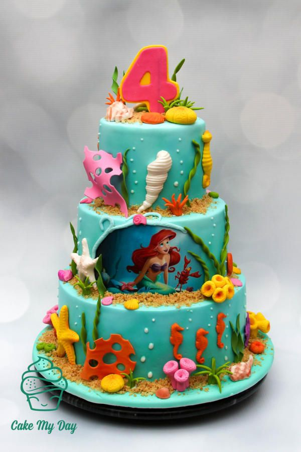 Little mermaid by cake my day cakes cake decorating for Ariel cake decoration