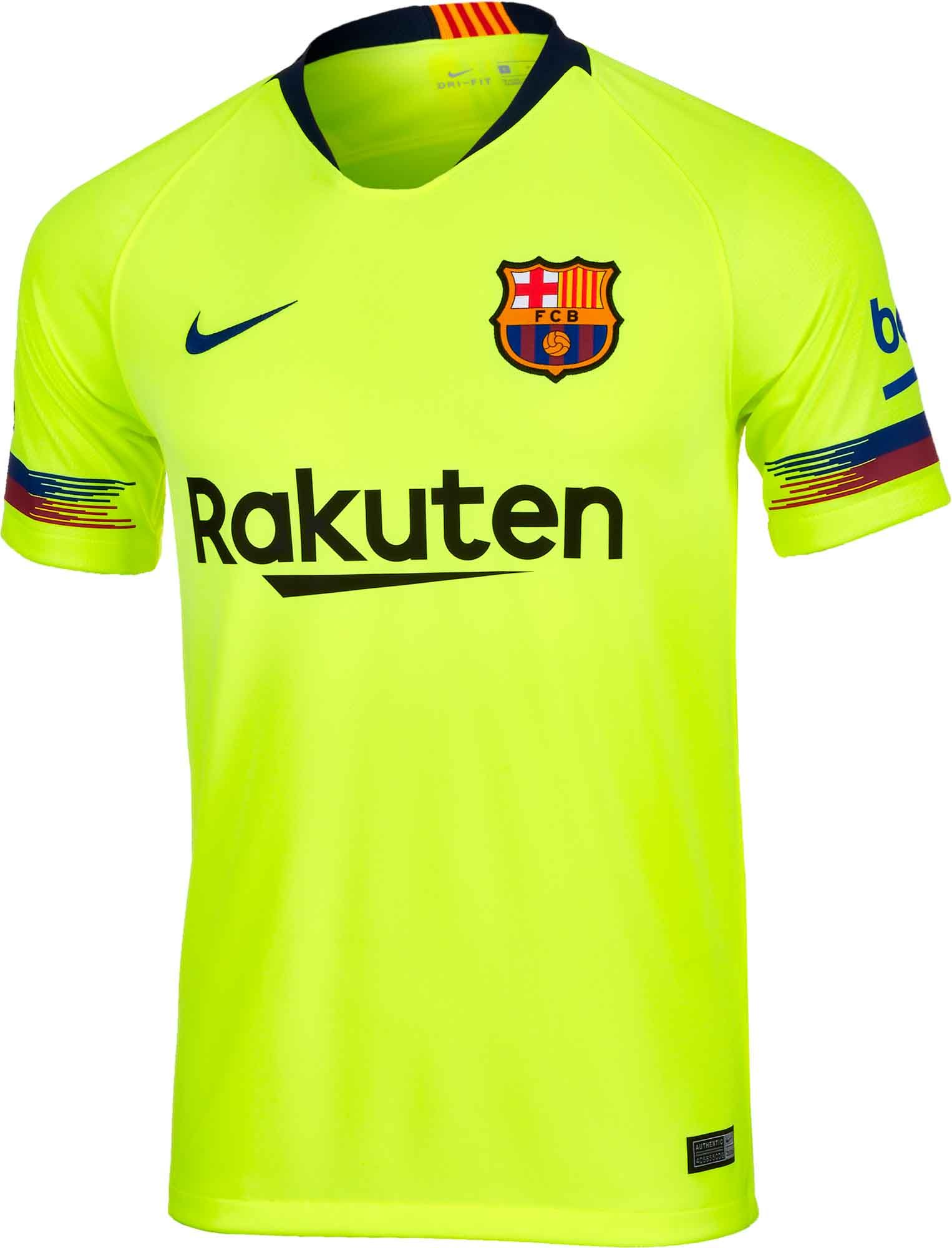 2018 19 Nike FC Barcelona Away Jersey. Buy it from SoccerPro. 3279eefc1b58a