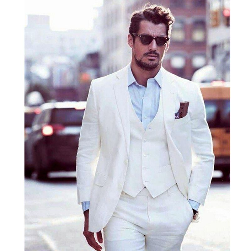 Free Shipping] Buy Best New Arrival Ivory Grooms Tuxedos White ...