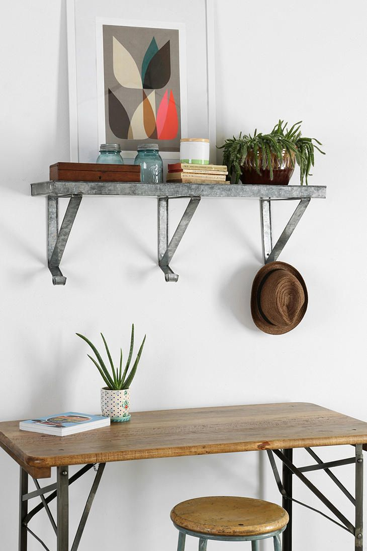 galvanized metal wall shelf wall shelves wall decor decor on wall shelf id=24463