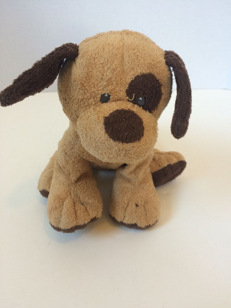 af4dc53b5 Ty Tylux Tan Brown Barker Pluffies Beanie Babies Stuffed Puppy Dog ...