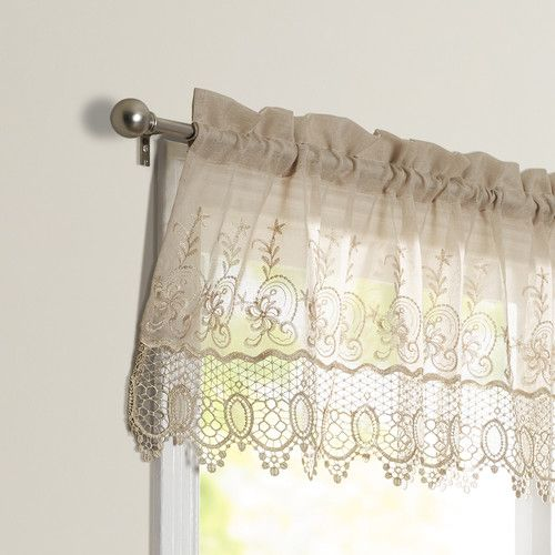 Found It At Joss Main Embroidered Lace Valance Curtains Curtain