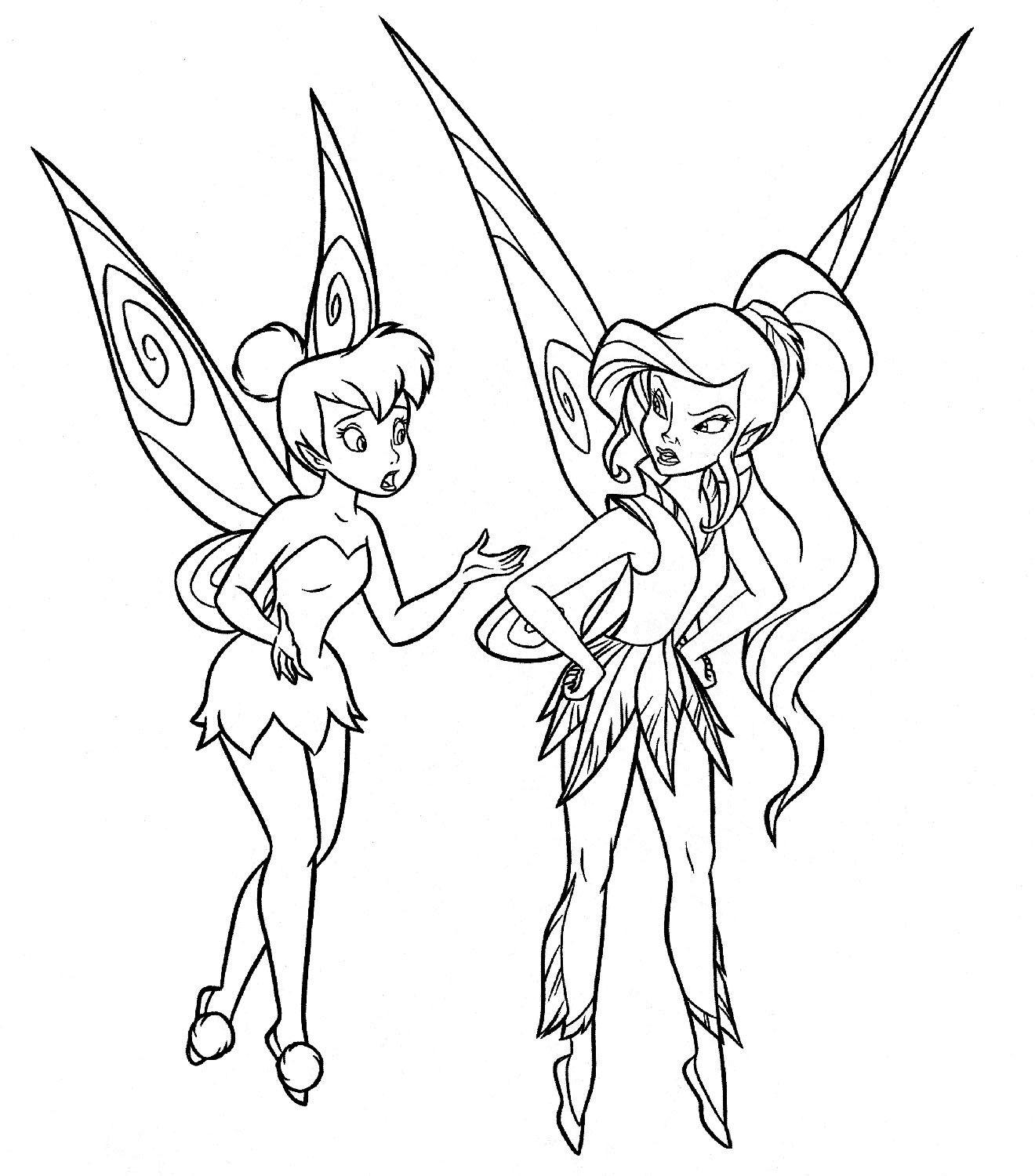 Tinkerbell With Vidia Coloring Pages  Tinkerbell coloring pages