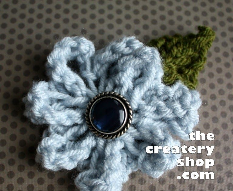 In my long quest to find an easy flower knitting pattern I realized ...