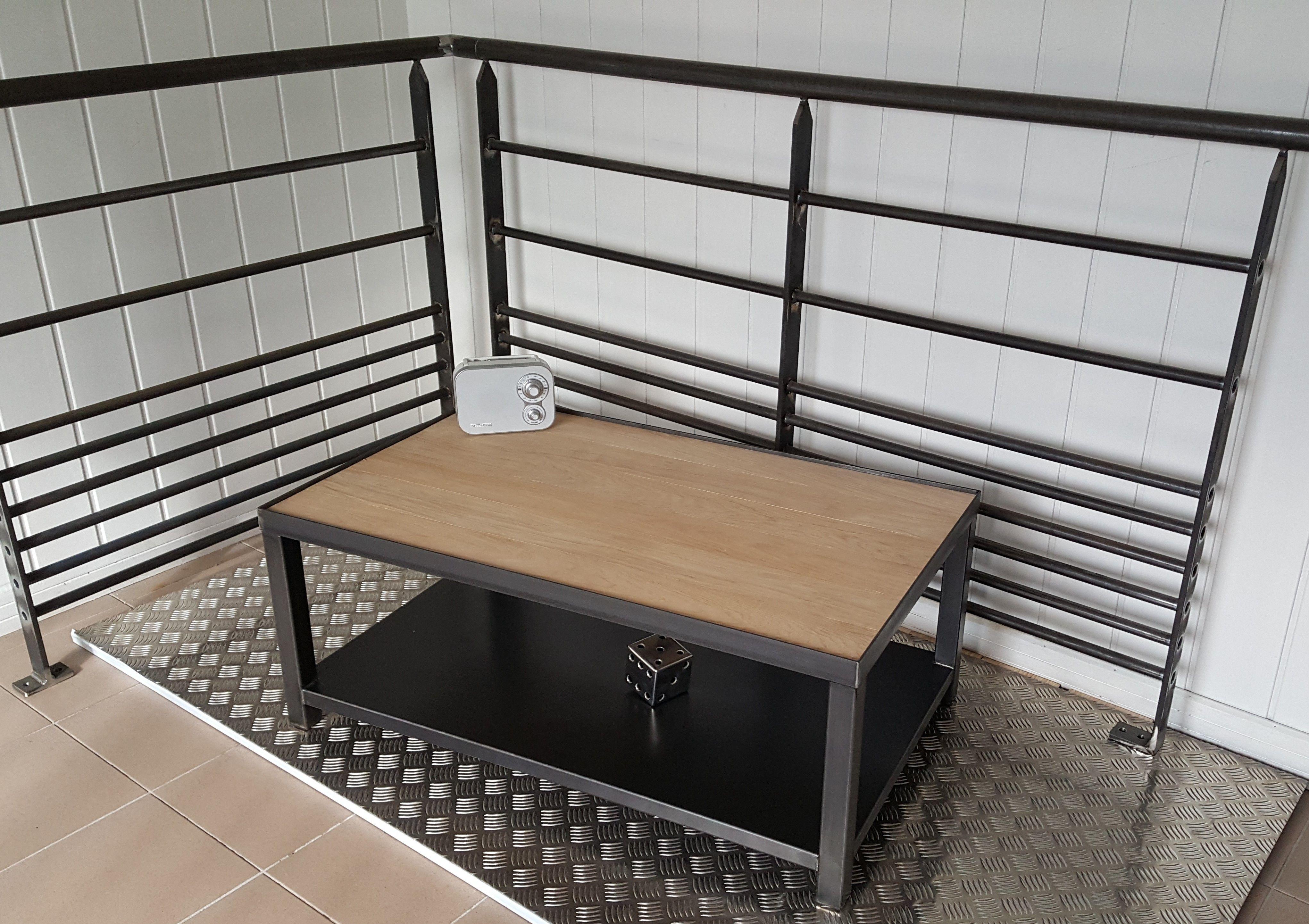 Meubles Style Industriel Table Basse Metal Solution Ploemeur Lorient Bretagne Meuble Style Industriel Metallerie Table Basse Metal
