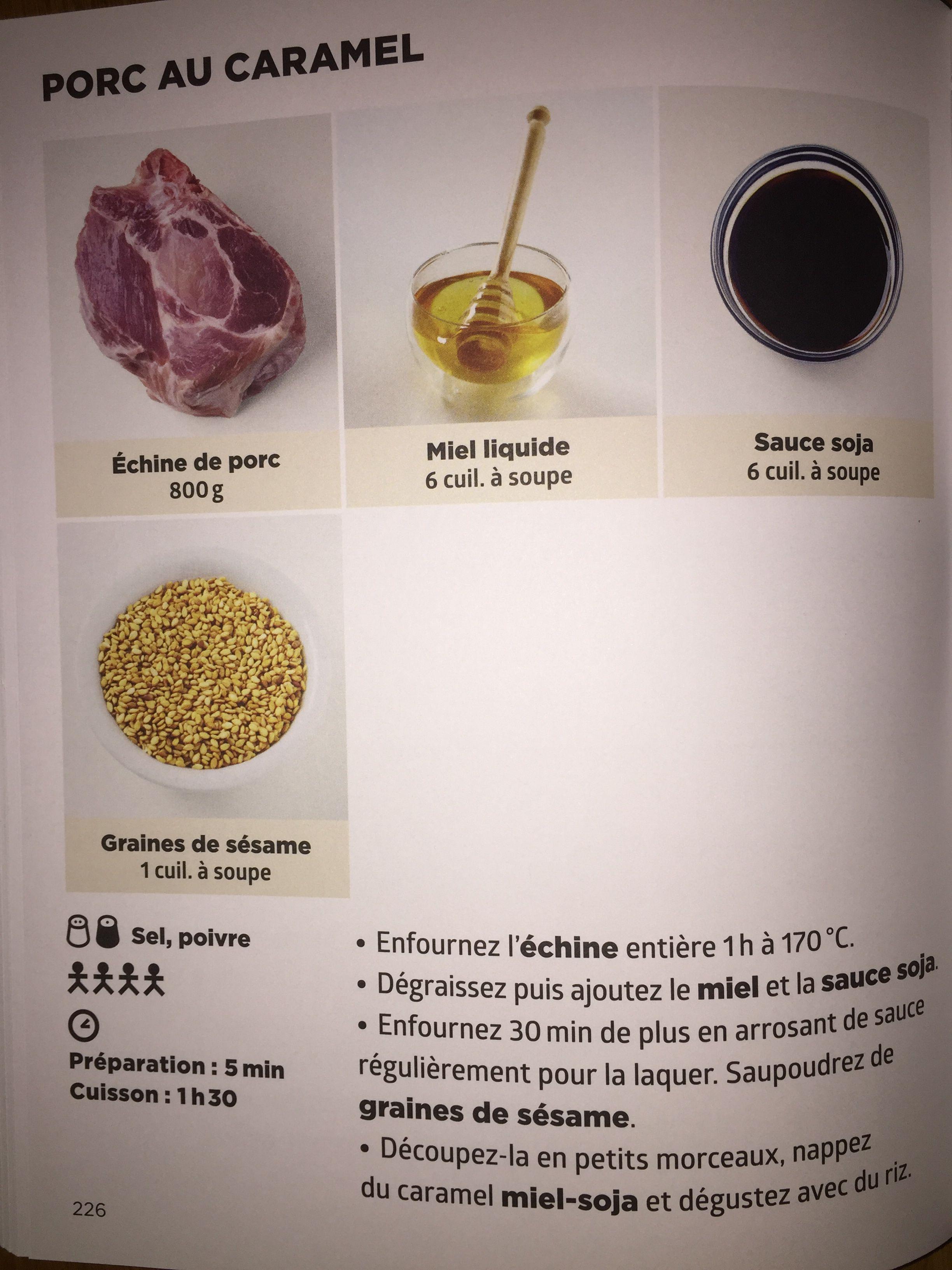 Porc au caramel | Recette de J.F. MALLET | Simplissime recettes ...