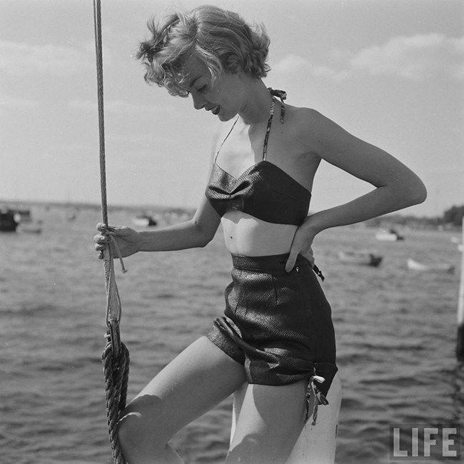 d889d1e1ce 1950s Wet Proof Paper Bikini..